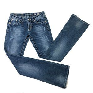 Miss Me Womens Jeans SIZE 28 BOOT CUT Distressed